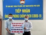 Ủy ban MTTQ Việt Nam huyện Phú Giáo: Tiếp nhận 150 triệu đồng ủng hộ phòng, chống dịch bệnh Covid-19