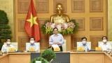 越南政府总理范明正与新闻媒体机构代表举行见面会