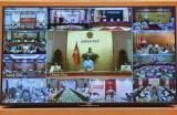越南政府总理范明正主持召开新冠肺炎疫情防控工作视频会议