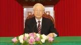 越共中央总书记阮富仲与韩国总统文在寅通电话
