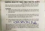 Vụ chủ nhà trọ Trung Kiên II yêu cầu người thuê trọ dọn đi: Hết thời gian giãn cách mới triển khai sửa chữa