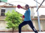 Đội tuyển karate Bình Dương tập luyện tại nhà giữa mùa Covid-19