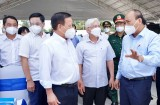 """Chủ tịch nước Nguyễn Xuân Phúc: Bình Dương cần tiếp tục giữ chặt """"vùng xanh"""", khoanh chặt """"vùng đỏ"""", đồng lòng kiểm soát dịch bệnh"""