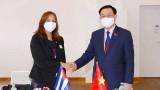 国会主席王廷惠会见古巴全国人民政权代表大会副主席