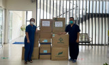 TX.Tân Uyên tiếp nhận thuốc kháng đông và bảo hộ y tế phòng, chống  dịch